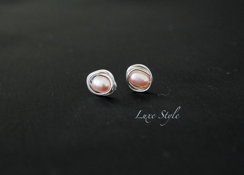 Stud Earrings Wire Wred Sterling Silver Pearl Post Simple Clic Jewelry Luxe Style